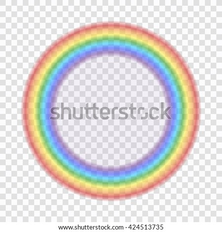 Shape Circle Realistic Isolated On Transparent Background Colorful Light And Bright