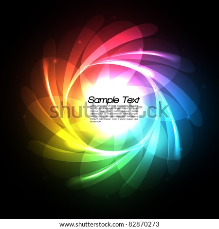 Rainbow Lines Vector Background - EPS10 Design