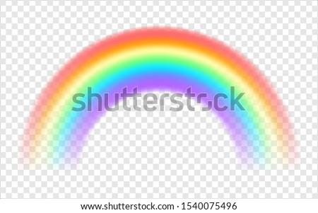 rainbow on a transparent