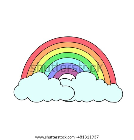 rainbow on a white background
