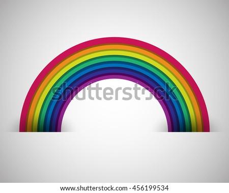 Rainbow on white. Rainbow abstract background. Rainbow border. Rainbow vector colors. Rainbow illustration. Rainbow circles. Rainbow arch.