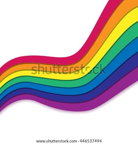 rainbow on white rainbow
