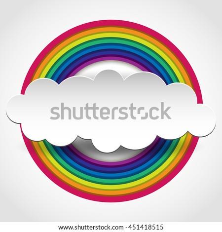 Rainbow on white. Rainbow abstract background. Rainbow cloud. Rainbow vector colors.