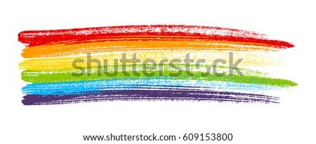 rainbow paint element isolated