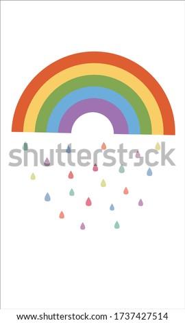 Rainbow Pattern, Colorful rainbow, Rainbow Background, Rainbow Love Cards Vector Stock Vector Illustration.