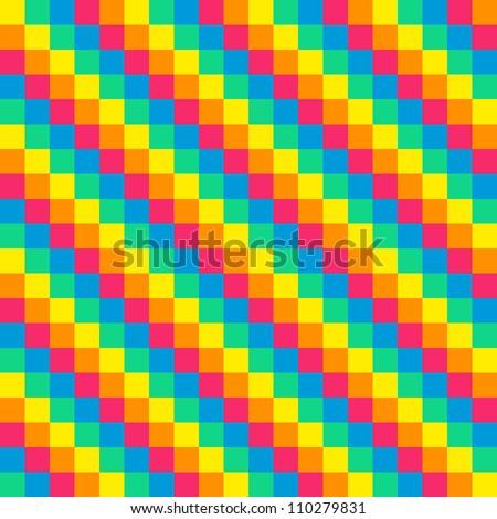 Rainbow Pixel Tile Background