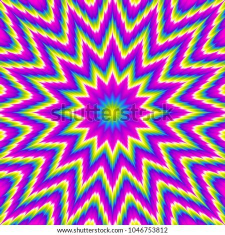 rainbow psychedelic flower