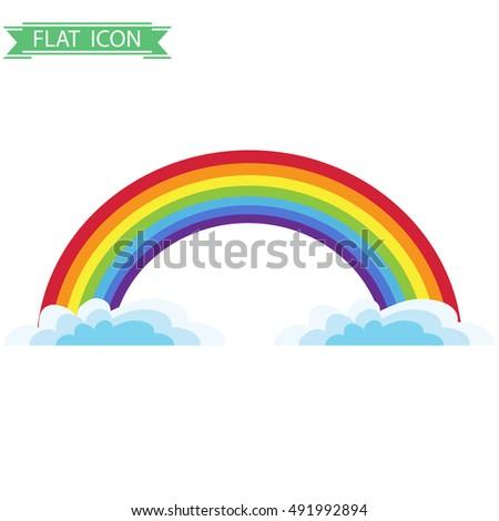 rainbow  rainbow icon flat