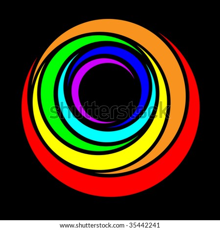rainbow ring. vector illustration