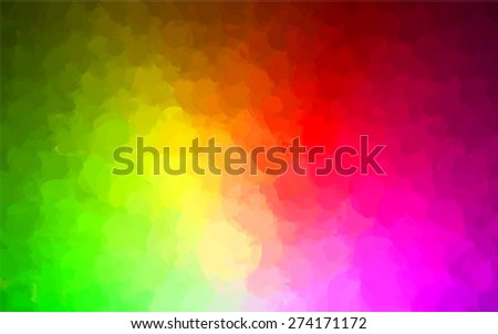 rainbow round brush strokes
