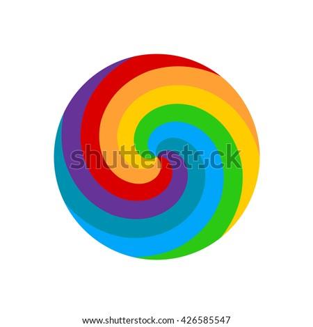 rainbow round spiral circle