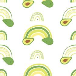 Rainbow seamless pattern design. Vector illustration.