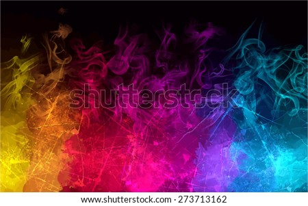 rainbow smoke background