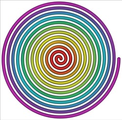 Rainbow spiral Symbol icon illustration with a white background