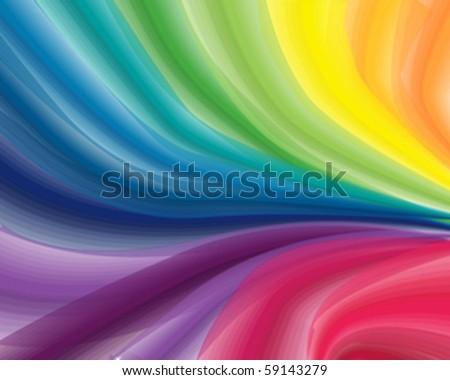 rainbow splash vector