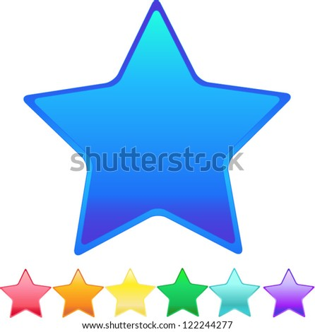 Rainbow star set oon white background,eps 10