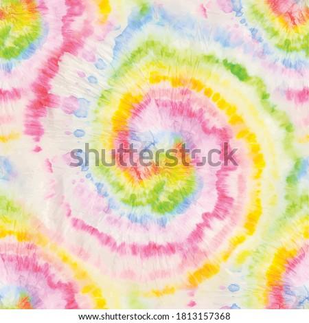 Rainbow Tie Dye Swirl. Psychedelic Tie Dye. Seamless Hippie Background.  Rainbow Vector Dyed Repeat. Colorful Tie Dye Pattern. Multi Swirl Tie Dye. Rainbow Circle Hippie Peace. Rainbow Vector Spiral