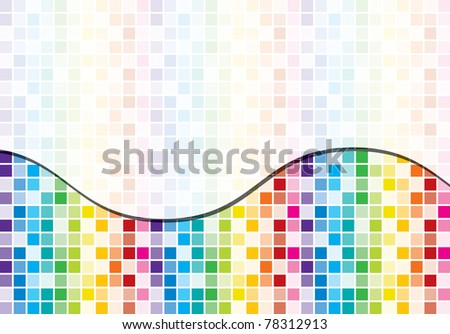 Rainbow toned mosaic abstract business background in vector format