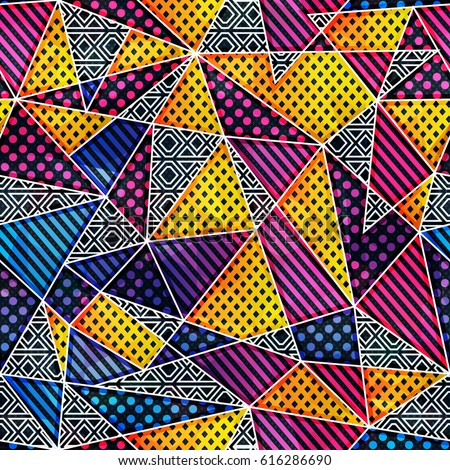 rainbow triangle seamless