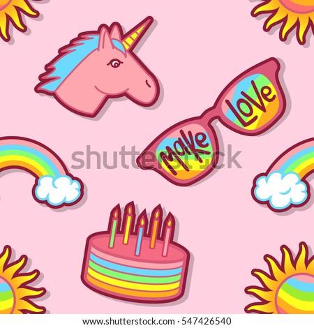 rainbow  unicorn  sun  glasses