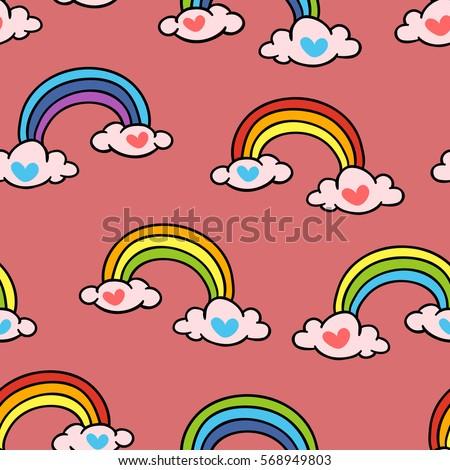 rainbow vector seamless