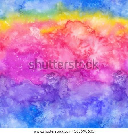 rainbow vector watercolor hand