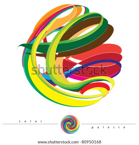 rainbow vortex vector   color
