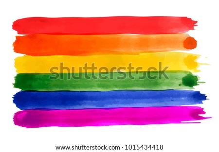 rainbow watercolor imitation