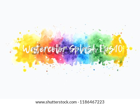 rainbow watercolor splash