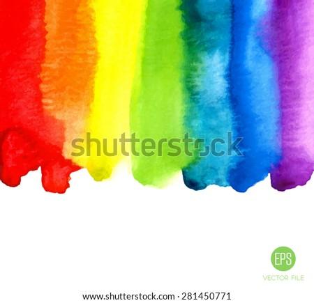 rainbow  watercolor texture
