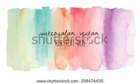 Rainbow Watercolor Vector Background. Rainbow Vector