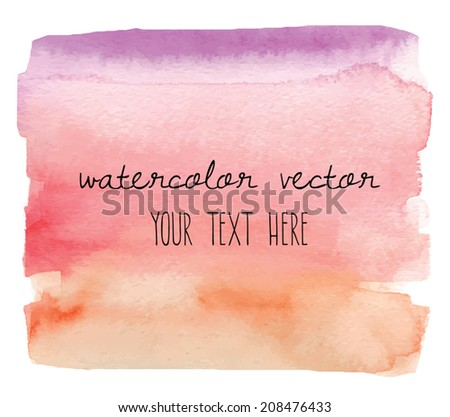 Rainbow Watercolor Vector Background Wash