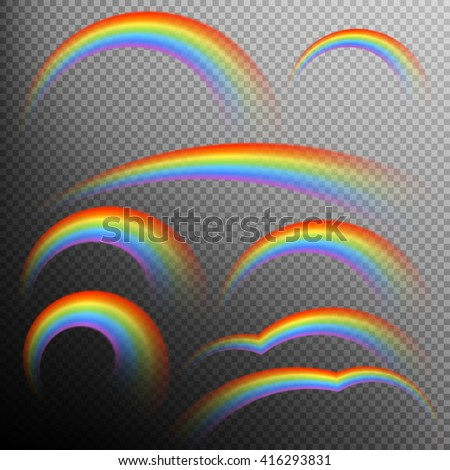 rainbows in different shape