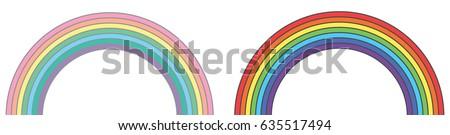 rainbows original and pastel