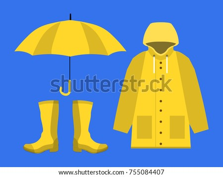 raincoat  rubber boots  open