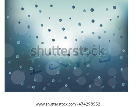 raindrops on the sweety glass