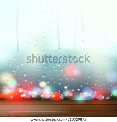 raindrops on the window