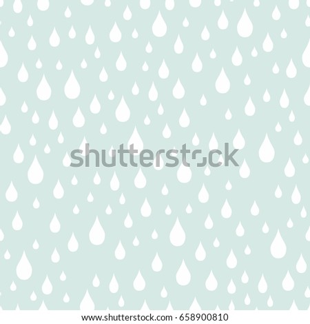 Raindrops vector seamless pattern