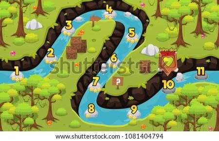 Rainforest jungle game level map