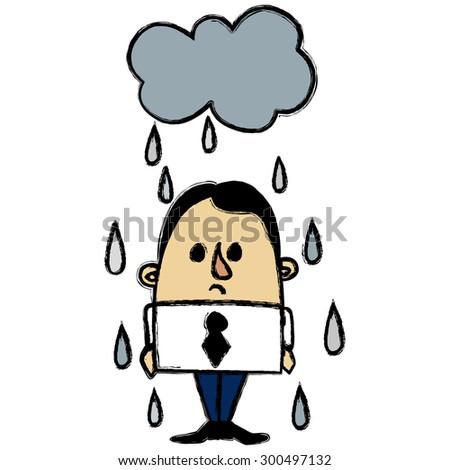 Rainy businessman Stockfoto ©