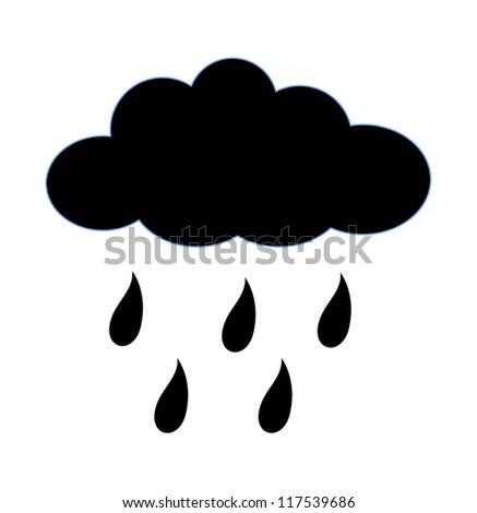 rainy cloud shape