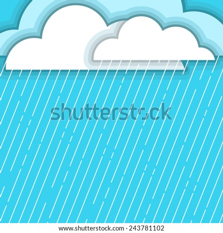 rainy day background with