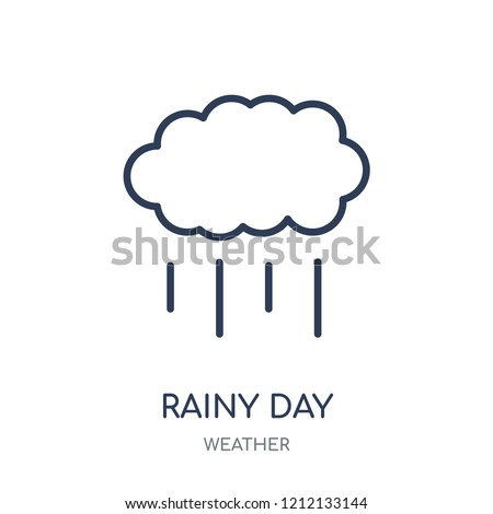 Rainy Day icon. Rainy Day linear symbol design from Weather collection. Simple outline element vector illustration on white background.