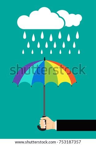 Rainy day , rainy vector ,umbrella