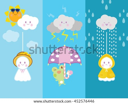 rainy day  with cute doll japan