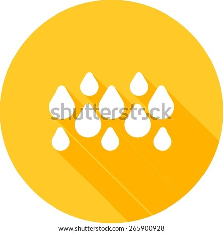 Rainy, rain, water droplets icon vector image. Can also be used for weather, forecast, season, climate, meteorology. Suitable for web apps, mobile apps and print media.