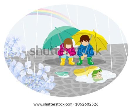 rainy scene clip art   playful