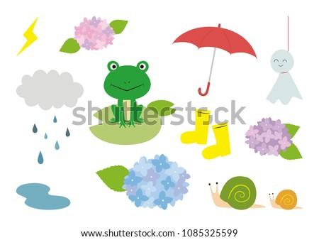 rainy season vector illustration