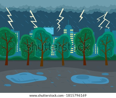 rainy weather  lightning
