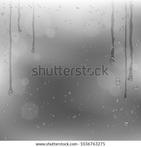 rainy window and dark gray